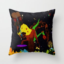 Bullhead wielding a space continuum Throw Pillow