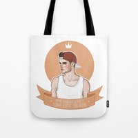 liam payne Tote Bags featuring Liam Payne by vulcains
