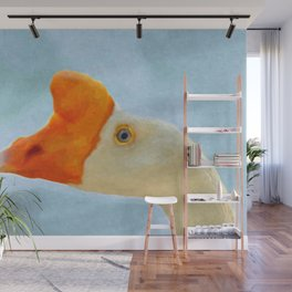 Blue eyed goose portrait Wall Mural