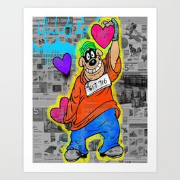 Beagle boy Art Print