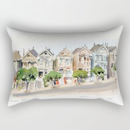 The Painted Ladies Rectangular Pillow