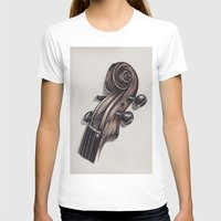 violin T-shirts featuring violin by Buffy Ino Kua