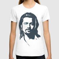 brad pitt T-shirts featuring Brad Pitt by Dora Birgis