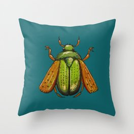 Beetle Wings Throw Pillow
