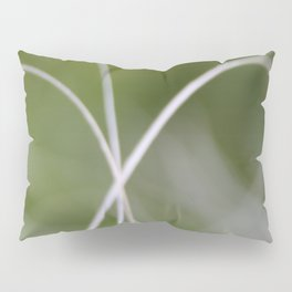 Macro of A Green Palm Tree Leaf  Fond Pillow Sham