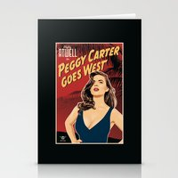 peggy carter Stationery Cards featuring Peggy Carter Goes West by Arne AKA Ratscape