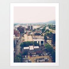 The Scenic City Art Print