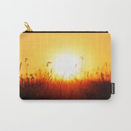 Sunset over a field Carry-All Pouch