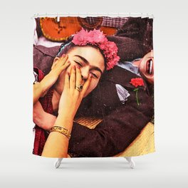 Frida y Chavela Shower Curtain
