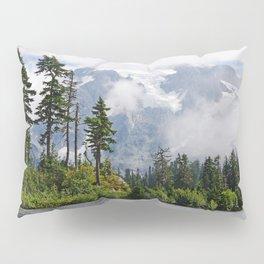 MOUNT SHUKSAN EMERGING THROUGH THE CLOUDS Pillow Sham
