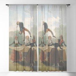 "Francisco Goya ""The Straw Manikin - The puppet"" Sheer Curtain"
