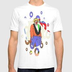 clown White Mens Fitted Tee MEDIUM