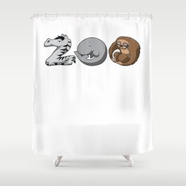 Zoo Keeper Zoologist Kids Animal Alphabet Gift Shower Curtain