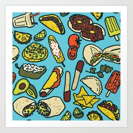 My Favorite Foods Art Print