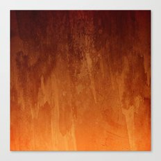 Orange Fire Watercolor Abstract Canvas Print