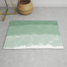 Modern lucite green abstract watercolor ombre pattern Rug