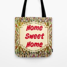 Stained Glass Home Sweet Home  Tote Bag