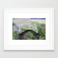 cage Framed Art Prints featuring Cage by dora-isa