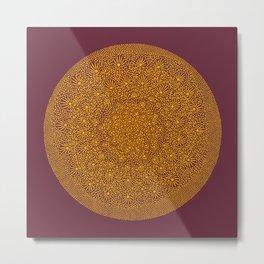 Orange Circular Movement Metal Print