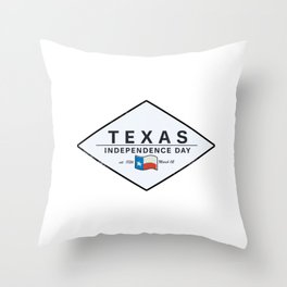 Texas Independence Dy Throw Pillow