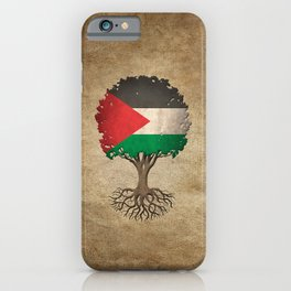 Vintage Tree of Life with Flag of Palestine iPhone Case