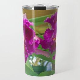 Frilly Orchids Travel Mug