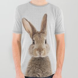 Rabbit - Colorful All Over Graphic Tee