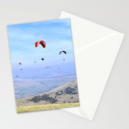 Paragliders in England's Peaks Stationery Cards