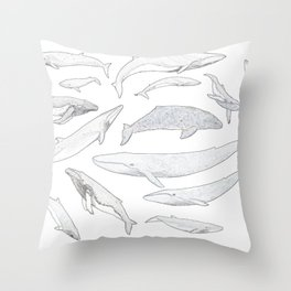 Whales of the world Throw Pillow