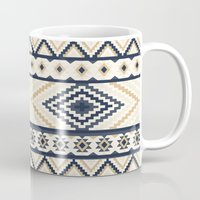 aztec Mugs featuring AZTEC by Oksana Smith