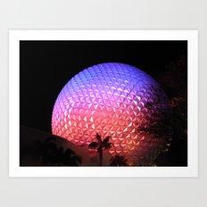Spaceship Earth Art Print