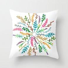 Radial Foliage Throw Pillow