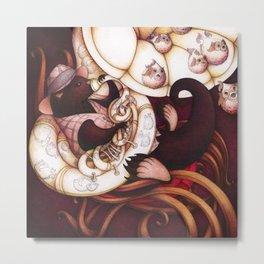 Jazzy Otter Metal Print