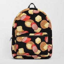 Cheese, Kabana and Jatz Feast in Black Backpack