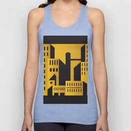 Golden city art deco Unisex Tank Top