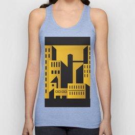 Golden city art deco Unisex Tank Top
