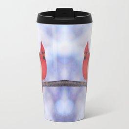 northern cardinals (bokeh) Travel Mug