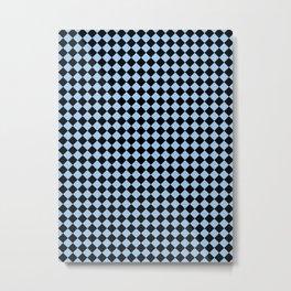Black and Baby Blue Diamonds Metal Print