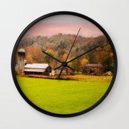 Rolling Hills Kentucky Farm Wall Clock