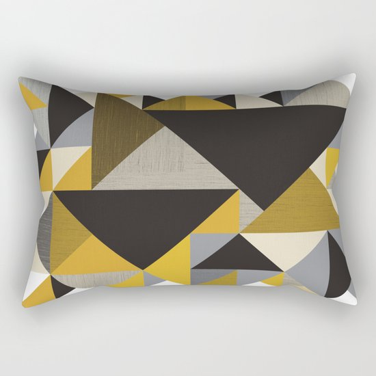 Geometric organic Rectangular Pillow