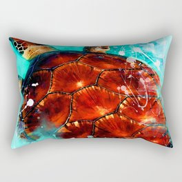 turtle art #turtle #animals Rectangular Pillow