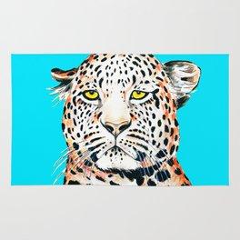 Leopard King Ink Blue Rug