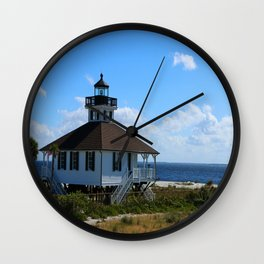 Port Boca Grande Light Wall Clock