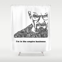 walter white Shower Curtains featuring Walter White by christoph_loves_drawing