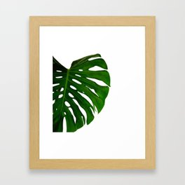 Banana Leaf (Color) Framed Art Print