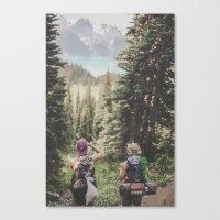 hiking Canvas Prints featuring Hiking II by Luke Gram