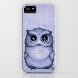 """The Little Owl"" by Amber Marine ~ (Lavender Bud Version) Pencil&Ink Illustration, (Copyright 2016) iPhone Case"
