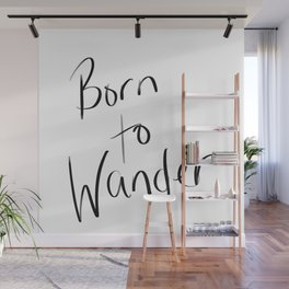 Born to Wander Logo Wall Mural