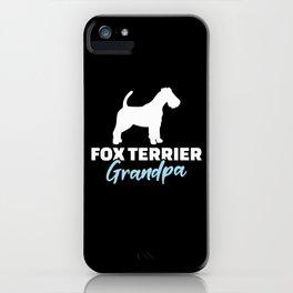Fox Terrier Grandpa iPhone Case