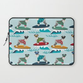 schnauzer surfing dog breed pattern Laptop Sleeve